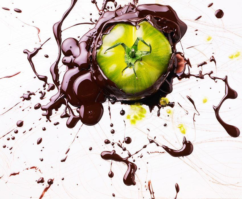 Julie MECHALI Art & Food: JM.Cosmetic food tomate verte chocolatee