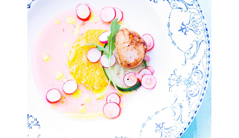 Accueil: bandeau salade de saint jacques Julie MECHALI