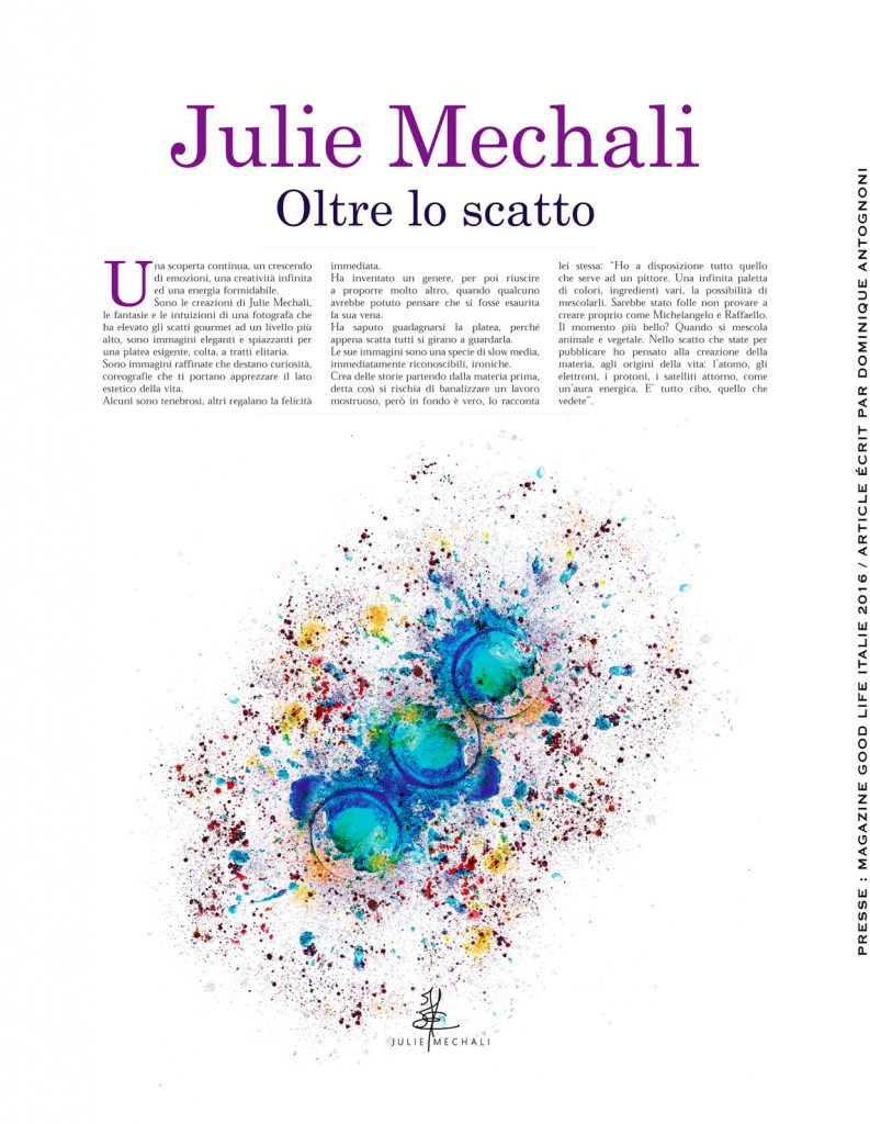 Art & Food: Magazine Good Life Avril 2015 page 23 Julie Mechali