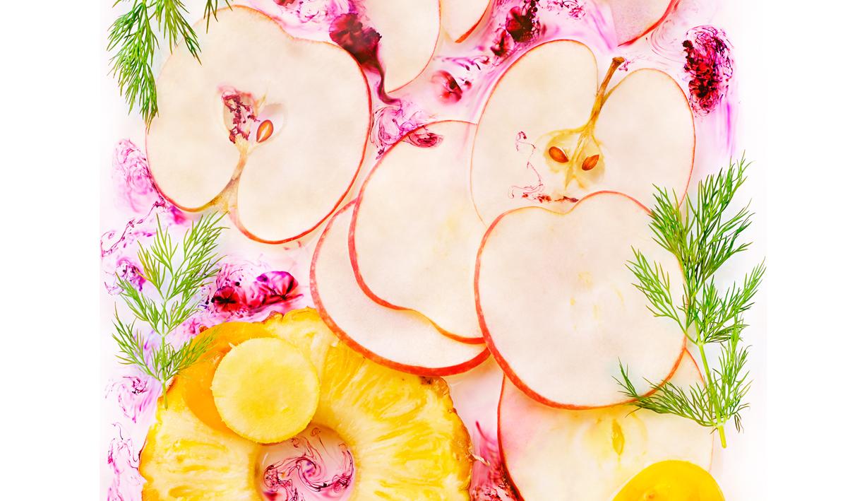 Accueil: bandeau JM.cocktail pomme tomate et liqueur de fruits rouge Julie MECHALI